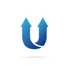 Logo u letter for company design template vector