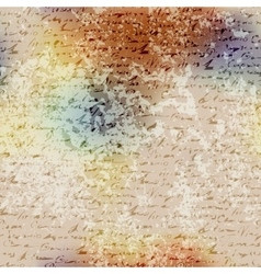 Grunge blur pattern with manuscript elements vector