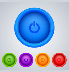 Round buttons vector