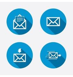 Mail envelope icons message document symbols vector