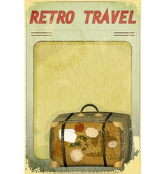 Old suitcase on grunge background vector