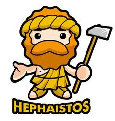 God of fire hephaestus vector