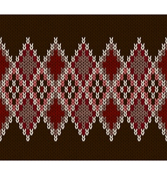 Seamless color knitted pattern vector
