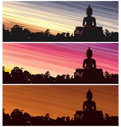 Buddha dusk vector