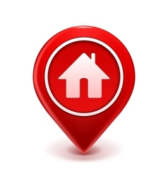 Home icon pin vector