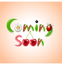 Coming soon nature concept vector