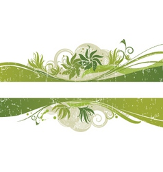 Floral graphic banner vector
