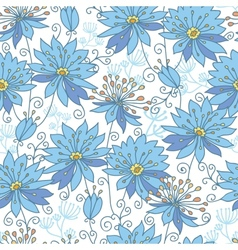 Heavenly flowers seamless pattern background vector