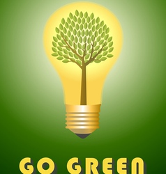 Go green concept vector