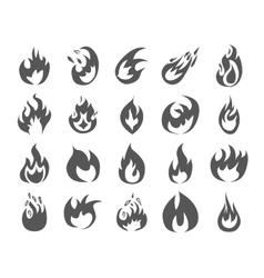 Set of various fire elements vector