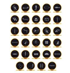 Egyptian hieroglyphs vector