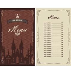 City menu vector