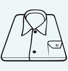 Folded shirt vector