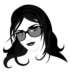 Girl with glasses vector