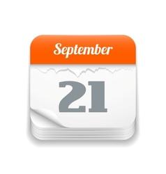 Tear-off calendar icon vector