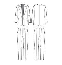 Womens blazer and pants vector