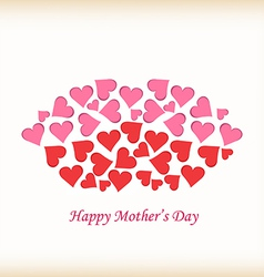 Lips made of hearts mothers day vector