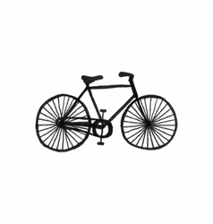 Bycicle doodle bike on the white background vector