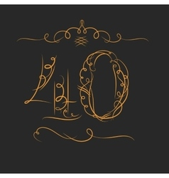 Anniversary 40th signs vector