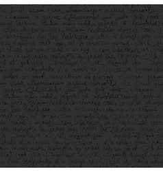 Seamless writing pattern on dark gray background vector