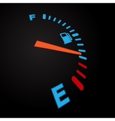Fuel indication black vector