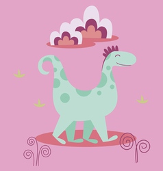Dino cartoon character vector