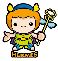 The god of strangers hermes vector