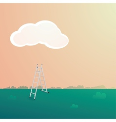 Stepladder under the cloud vector