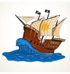 Summer adventures ship vector