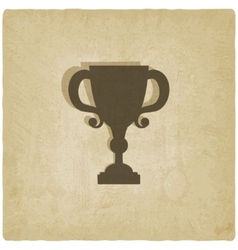 Trophy cup old background vector