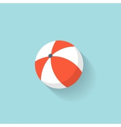 Beach ball flat web icon vector