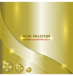 Brass metallic background vector