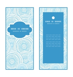 Doodle circle water texture vertical frame pattern vector