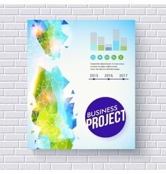 Dynamic fresh business project template vector