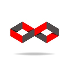 Red and black rhombus logo creative design vector
