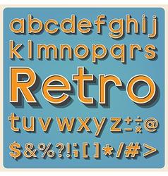 Retro type font vintage typography eps10 vector