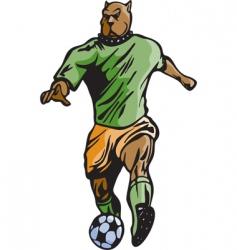 Mascots soccer vector