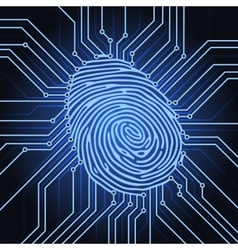 Fingerprint electronics vector