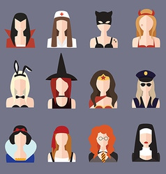 Halloween girl set vector