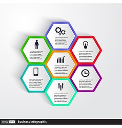 Conceptual design template infographics element vector