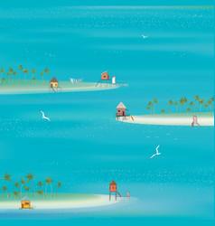 Islands in the ocean vector