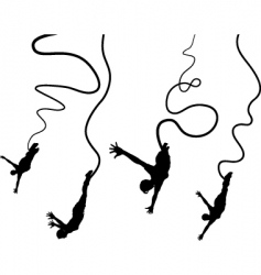 Bungee jumpers vector