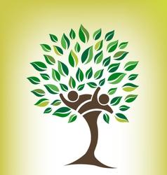 Team tree logo vector