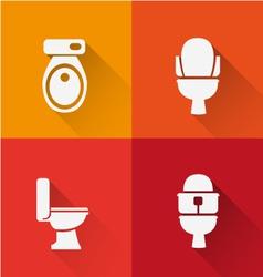 Wc toilet icon long shadow vector