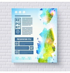 Business report design template vector