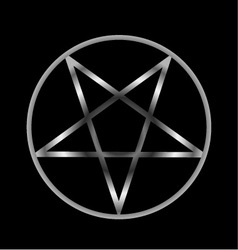 Pentacle- religious symbol of satanism vector