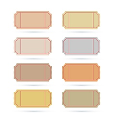Ticket set isolated on white background vector