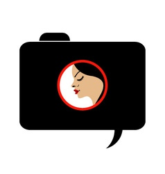 Model photo shoot- photography logo vector