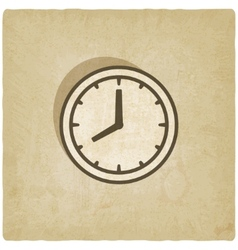 Clock face old background vector