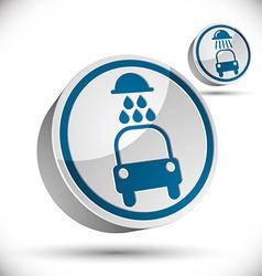 Car wash 3d icon vector